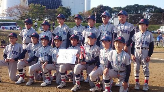 湘南若鮎少年野球大会3位入賞!